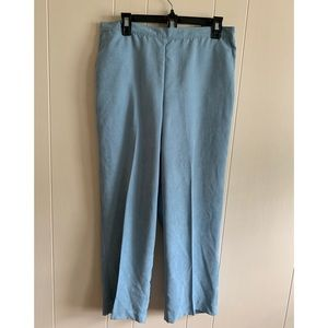 NWT Alfred Dunner faux suede blue dress pants
